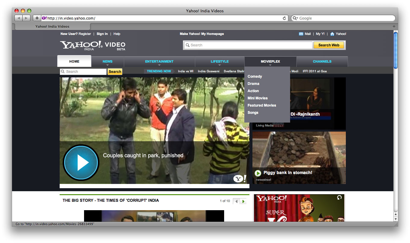 Yahoo! India Video