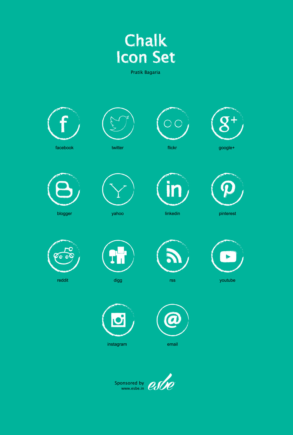 Chalk Social Media Icon Set (FREE)